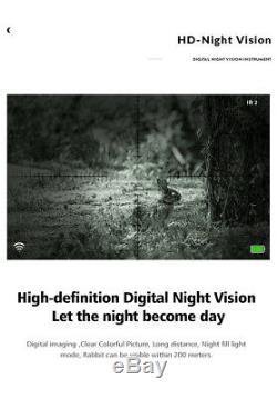 Nv La Portée De Fusil Numérique De Vision Nocturne Infrarouge Pour La Chasse De Pard Nv007