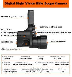 Nvs30 Enregistreur De Caméra Numérique Wifi Hd Night Vision Rifle 5w Ir Power