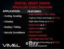 Optique De Vision Nocturne Chasse Appareil Photo Numérique Binocular Enregistreur De Sécurité