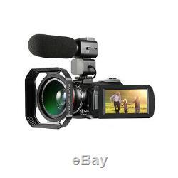 Ordro Ac3 4k 24mp Wifi Caméra Vidéo Numérique Caméscope DV Enregistreur 30x Zoom Ir