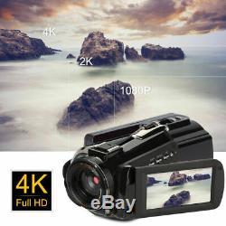 Ordro Ac3 4k 24mp Wifi Night Vision Caméscope Enregistreur Caméra Vidéo Numérique Spl