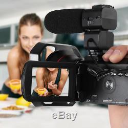 Ordro Ac3 4k Wifi Caméra Vidéo Numérique Caméscope DV + Objectif + Support De Microphone +