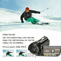 Ordro Ac3 Numérique 4k Caméra Wifi Infrarouge Professional Video Recorder Caméscope