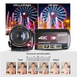 Ordro Ac3-ips Full Hd 4k Wifi Night Vision Vidéo Numérique Caméra DV Us 100-240