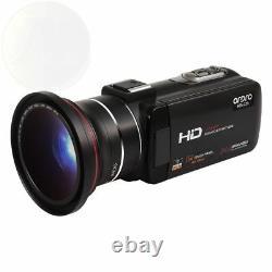 Ordro Camcorder Wifi Hd 1080p Caméra Vidéo Numérique Avec Télécommande Hdmi