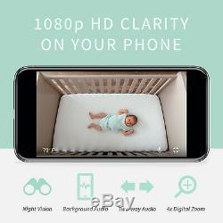 Owlet Cam Wifi Moniteur Vidéo Pour Bébé Clarity Hd Avec Vision Nocturne Et Deux Voies Audio