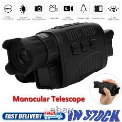 Photo De Vision Nocturne Infrarouge Prenant Le Télescope Monoculaire Numérique Avec Un Écran Tft 1,5