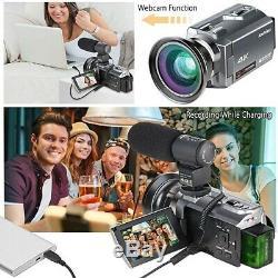 Prime 4k Ultra Hd 16x Zoom Numérique 48mp Infrarouge Vidéo Caméscope Kit Caméra