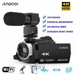 Professionnel 4k Ultra Hd 1080p 48mp 16x Caméscope Caméra Vidéo Numérique Ir