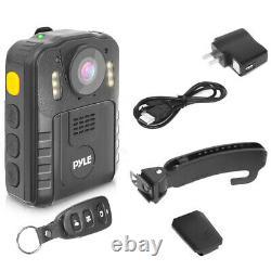 Pyle Ppbcm92 Compact Portable 1296p Hd Sans Fil Vision De Nuit Caméra Du Corps De Police