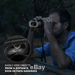 Randonnée Crew Night Vision Binocular, Portée De Chasse Numérique Infrarouge, Grand Écran Et