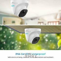 Reolink 5mp Poe Système De Caméra De Sécurité 8ch Nvr Surveillance Vidéo Rlk8-520d4-5mp
