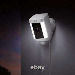 Ring Spot Light Cam Wired Outdoor Rectangle Caméra De Sécurité En Blanc