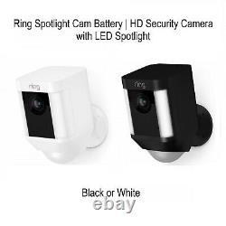 Ring Spotlight Cam Batterie Hd Caméra De Sécurité Avec Projecteur Led, Alarme Nouvelle