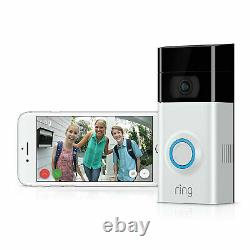 Ring Video Doorbell 2 Motion Activated 1080hd Video 2-way Talk Night Vision Cam
