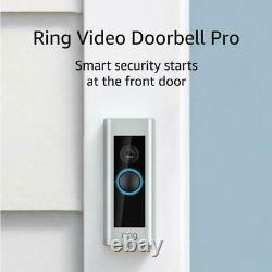 Ring Video Doorbell Pro 1080p Wi-fi Hard Wired Hd Camera Avec Night Vision/alexa