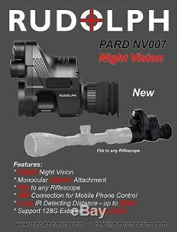 Rudolph Optique Portée Pard Nv007 Numérique De Vision Nocturne Intégrée Illuminateur Ir