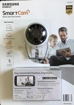 Samsung Snh-v6431bn Accueil Smart Cam Full Hd Wifi 1080p Caméra Ip Avec Fente Microsd