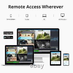 Sannce 8ch 1080p Fhd Outdoor Wireless Wifi Cctv Nvr Security Ai Camera System Ir