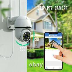 Sécurité Sans Fil Wi-fi Système De Caméra 3mp 8ch Extérieur Nvr Cctv Ir Cam Nightvision
