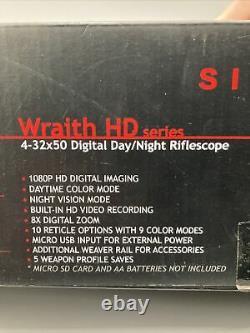 Sightmark Wraith Hd 4-32x50 Digital Day/night Vision Rifle Scope Sm18011 Lire
