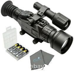 Sightmark Wraith Hd 4-32x50 Riflescope Numérique Avec 4 Aa, Boîtier De Batterie, Tenue