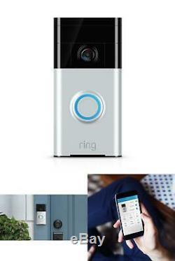 Smart Sonnette Caméra 720p Wifi Vidéo Sans Fil Filaire 2 Voies Audio De Vision Nocturne