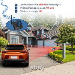 Solar Driveway Alarm Wireless Motion Pir Sensor Home Security Alert System Ip66