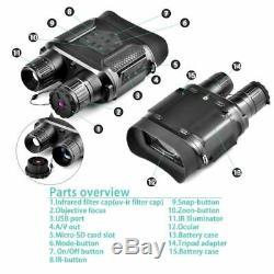 Solomark Numérique Infrarouge Portée Vision Nocturne Hd Binocular Nv400 Photo Ir