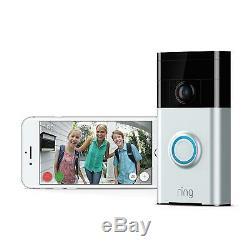 Sonnerie Vidéo Sonnette Wi-fi Activé Caméra De Sécurité Smart Phone Hd Vision Nocturne Ip
