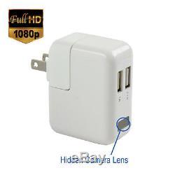 Spygeargadgets 1080p Hd Usb Ac Chargeur Espion Caché Caméra / Nanny Cam 32gb