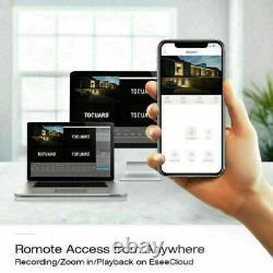 Système De Caméra De Sécurité Poe 5mp 8ch Nvr 4pcs Wired Smart Home Kit 724 Enregistrement