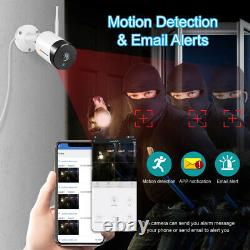 Système De Caméra De Sécurité Sans Fil Ip Hd 1080p Wifi Audio Outdoor Home Cctv Nvr Kit