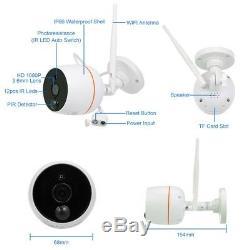 Système De Caméra De Sécurité Sans Fil Wifi Cctv Kit D'extérieur Hd Ip Intérieur Recorder 2 Ch