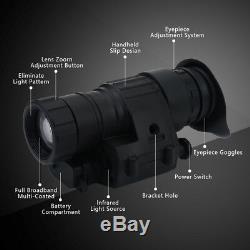 Télescope Monoculaire Infrarouge De Vision Nocturne De Hd Digital Ir De Chasse Pour Le Casque Nous