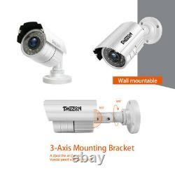Tmezon 1080p 2.0mp Caméra De Sécurité 16ch Hdmi Dvr Extérieur Ir Nuit Système De Vidéosurveillance