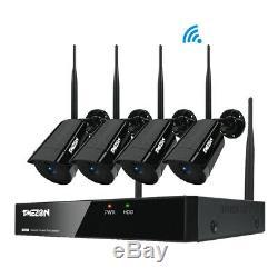 Tmezon 1080p Sans Fil Wifi Caméra Hd 8ch Nvr Extérieur Ir Nuit Système De Sécurité