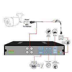 Tmezon 8ch Hdmi 1080p Dvr 2.0mp Extérieur Cctv Accueil Sécurité Système De Caméra 1tb Hdd