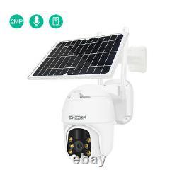 Tmezon Wifi Ip Ptz Caméra 1080p Solar Power Security Outdoor Wireless Cctv Dome