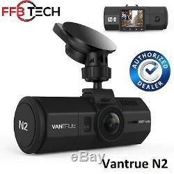 Vantrue N2 Double Dash Cam-1080p Full Hd + Hdr Avant Et Arrière Grand Angle Double Objectif