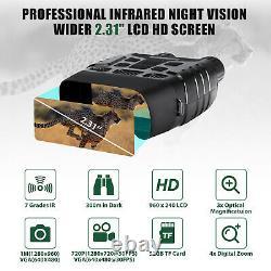Vidéo Hd Digital Zoom Night Vision Chasse Binoculaire Monoculaire Portée Ir Caméra