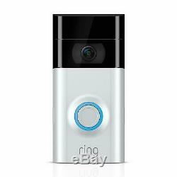 Video Ring 2 Sonnette 1080p Hd Moniteur Caméra Sans Fil Avec Vision Nocturne