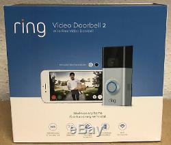 Video Ring 2 Sonnette Activé Par Le Mouvement 1080hd Vidéo 2 Voies De Conversation Night Vision Cam