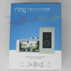 Video Ring Sonnette Elite 8vr1e7-0en0 1080hd 2-way Parlez