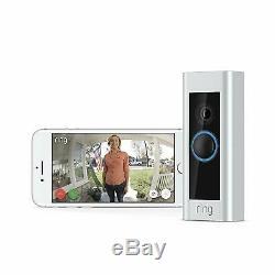 Video Ring Sonnette Pro 1080p Hd Security Cam Avec Vision Nocturne