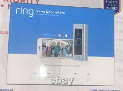 Video Ring Sonnette Pro 1080p Wi-fi Câblé Intelligent Caméra Hd Avec Vision Nocturne
