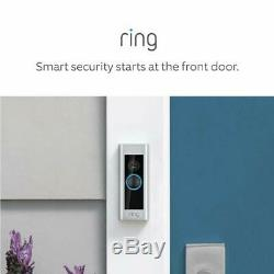 Video Ring Sonnette Pro Wifi 1080p Caméra Hd Alertes Night Vision & Motion