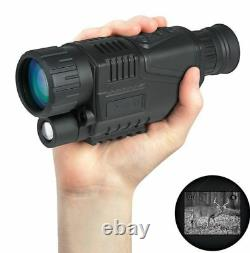 Vision De Nuit Monoculaire Portée Vidéo Dvr Photo 5x40 Zoom Infrarouge Digital+8gb 5y