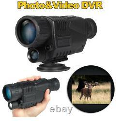 Vision De Nuit Monoculaire Portée Vidéo Dvr Photo 5x40 Zoom Ir Infrarouge Numérique+8gb P