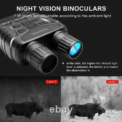 Vision De Nuit Numérique Jumelles Jumelles Ténèbre Complète Portée Infrarouge